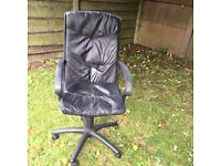 swivel chair leather could be pvc