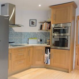 Fitted Oak Kitchen for Sale, Including Built-in Appliances