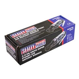 """NEW - Sealey 3/8"""" Sq Drive Super Stubby Air Ratchet Wrench"""