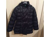 Benetton winter jacket for girl age 10-11 years