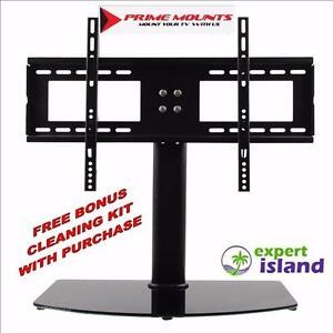 "Prime Mounts PMD B55 Universal Table Top Desktop Mount Replacement stand for Flat Panel TV - fits 32"" to 55"""