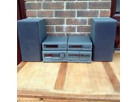 TECHNICS STEREO SYSTEM. complete with Radio+CD disc player+2 cassette decks+amplifier+ speakers
