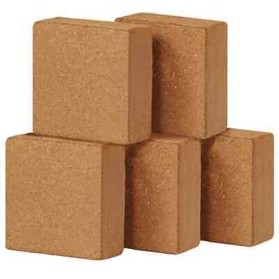 vidaXL 5x Coir Blocks 5kg 30x30x10cm Gardening Coconut Fibre Compost Brick