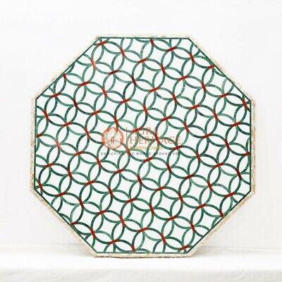 Mármol Bistro de Mesa Mosaico Incrustado Diseño Mano Regalo Ella Decoración Boda