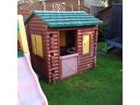 Little Tikes log cabin in used good condition