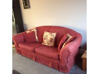 NOW reduced to £75.00 /WAS £125.00 3 & 2 Seater sofa with foot stool & sofa extra set of covers