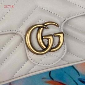 Gucci White Marmont Shoulder Bag