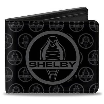 Men Wallet Bifold SHELBY Cobra Center MonogDodge Ram 1500 Black Gray Logo