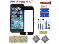 iPhone 6 Black Screen Replacement Front 4.7 inch Gorilla Glass Screen with Tool Kit and Glue