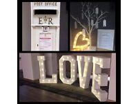 Hire our 4ft light up letters or numbers for any occasion 💖