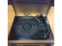 Derens Stereo Turntable Record Player With Radio and Built in Speakers