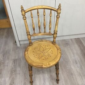 A Set of Four Unusual Wooden Chairs in good condition.