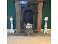 Pair of Stone Candle Holders