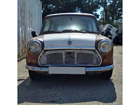 Left hand drive Austin MINI for restoration. Starts and runs. Barn find.