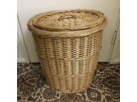 Wicker basket with lid only £8