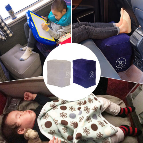 Travel Pillow for Kids Baby Inflatable Footrest Travel Bed f