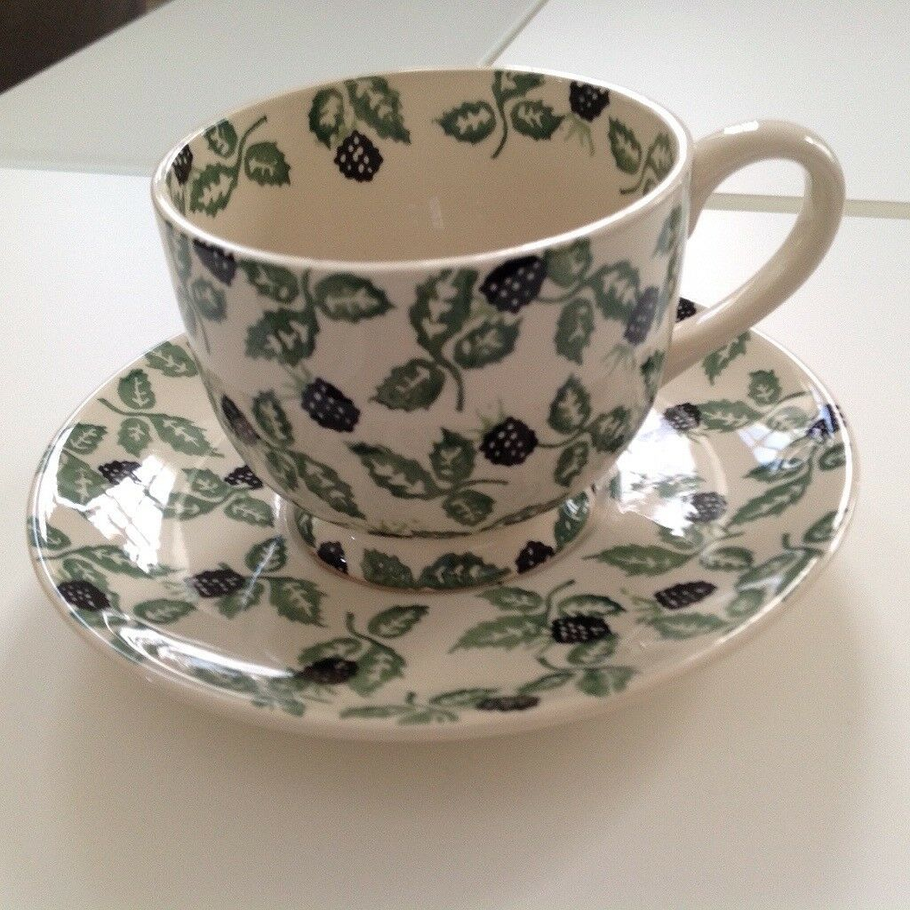 Emma Bridgewater Rare Blackberry large cup and saucer