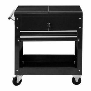 Rolling Mechanics Tool Cart Slide Top Utility Storage Cabinet Organizer 2 Drawer - BRAND NEW - FREE SHIPPING