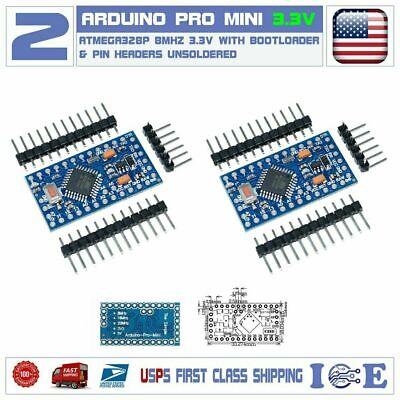 2pcs Arduino Pro Mini Board Headers Bootloader Atmega328p 8mhz 3.3v Mini Pro