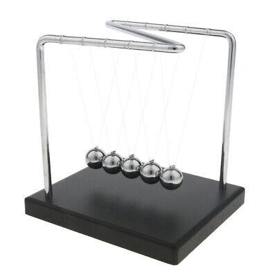Newtons Cradle Balance Ball Physics Pendulum Science Fun Desk Toy Accessory