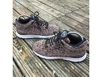 Gourmet leopard print trainers size 5.5