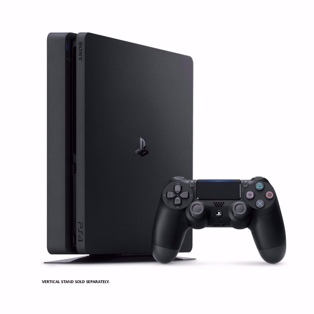 Playstation 4 Slim (1TB) with 2 Controllers + Uncharted: The Nathan Drake Collection