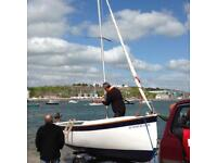 Dockrell 17 Sailing Dinghy with boat trailer
