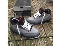 Nike air Jordan 3 stealth trainers size 5.5
