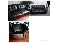 3 piece leather suite blackburn.