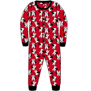 Girls Minnie Mouse Long Sleeved All in One Pjs Pyjamas Nightwear 1Onesie Age 7-8