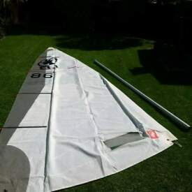 rooster 8.1 sail and mast laser sailing