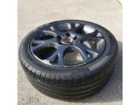 Alloy wheel with tyre fits honda, subaru, nissan and others.