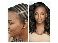Afro-Caribbean Hair /Hair Extension/Braids /Locs /Weave /European Weave / Mobile Hairdresser