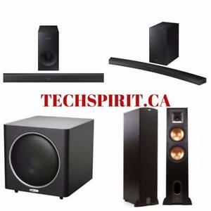 Latest Samsung, LG, Klipsch, Polk Audio, Sony, Philips, JBL Sound Bars with Subwoofers