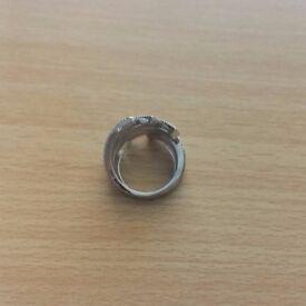 Sterling Silver sparkly elegant ring