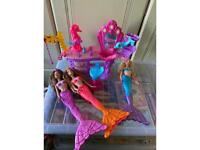 Barbie mermaid salon x 3 mermaids