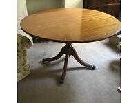 Mahogany round dining table