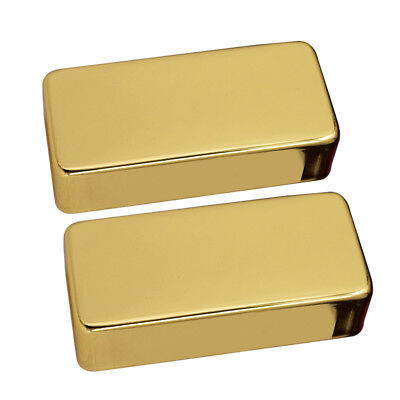 Set of 2 Brass Seal Type Humbucker Pickup Covers for Electric Guitar Golden