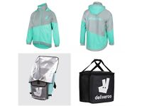 NEW Deliveroo Core Kit - Size M Reflective Jacket, Outer Backpack, Small Thermal Bag