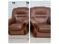 Italian leather armchairs free delivery local