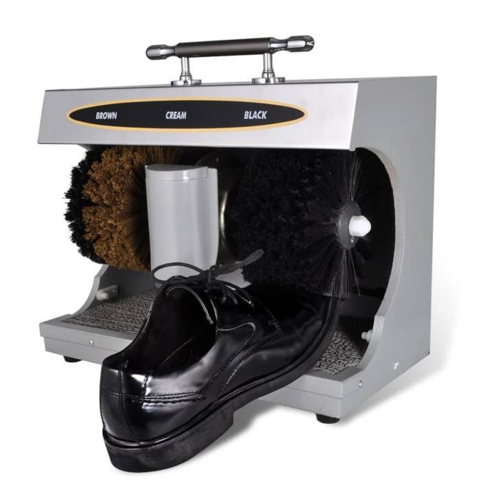 vidaXL Cireuse à chaussures électrique complètement automati