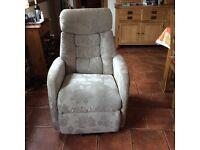 Dual motor lift and tilt/ massage recliner chair.