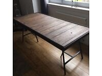 Statement Rustic Industrial Dining Table