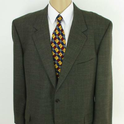 46 L Joseph Abboud Brown Tweed Wool 2 Btn Mens Jacket Sport Coat Blazer Mint