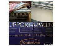 Single divan bed with storage underneath mattress