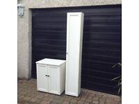 IKEA Tall bathroom cupboard +small 2door cupboard