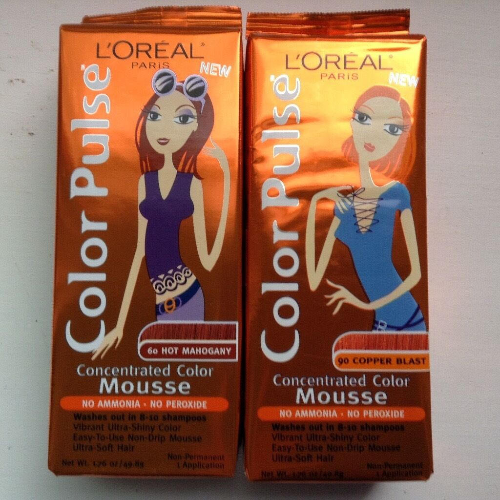 L'Oreal colour mousse - wash in wash out colour. 41 tubes | in Southside, Glasgow | Gumtree