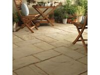 Bradstone Ancestry Paving Slabs Patio Kit 2800 x 2300mm (6.4m²) Abbey Original Colour