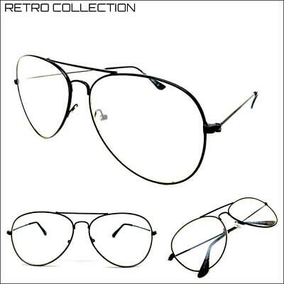 Men's CLASSIC Vintage 80s RETRO Style Clear Lens EYE GLASSES Black Fashion (80s Style Glasses)