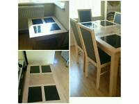 Dining table, centre table and corner table set